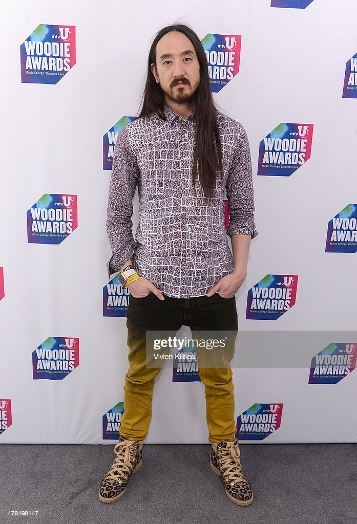 Musician <a gi-track='captionPersonalityLinkClicked' href=/galleries/search?phrase=Steve+Aoki&family=editorial&specificpeople=732001 ng-click='$event.stopPropagation()'>Steve Aoki</a> attends the 2014 mtvU Woodie Awards and Festival on March 13, 2014 in Austin, Texas.
