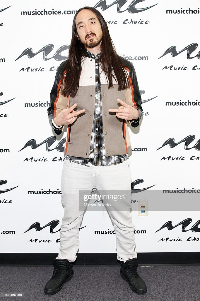 Musician Steve Aoki visits Music Choice's 'You & A' on May 20, 2014 in New York, United States.