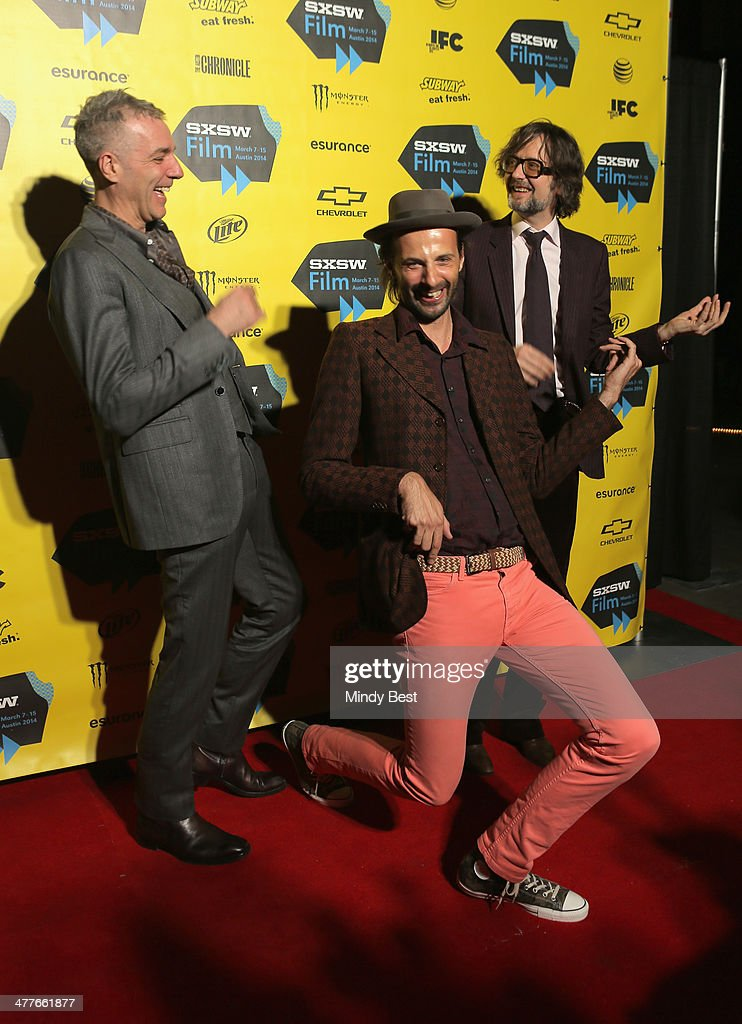 Musician Steve Mackey, filmmaker Florian Habicht and musician Jarvis Cocker attend the 'PULP' premiere during the 2014 SXSW Music, Film + Interactive Festival at Austin Convention Center on March 9, 2014 in Austin, Texas.