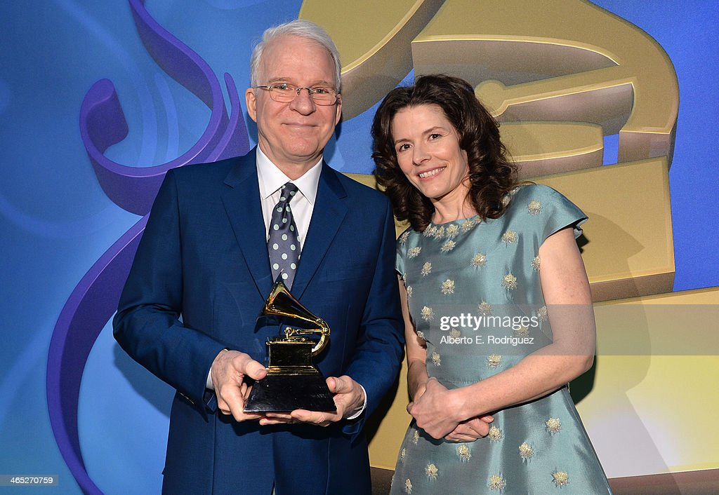 Musician <a gi-track='captionPersonalityLinkClicked' href=/galleries/search?phrase=Steve+Martin+-+Comedian&family=editorial&specificpeople=196544 ng-click='$event.stopPropagation()'>Steve Martin</a> and Singer <a gi-track='captionPersonalityLinkClicked' href=/galleries/search?phrase=Edie+Brickell&family=editorial&specificpeople=789872 ng-click='$event.stopPropagation()'>Edie Brickell</a> attends the 56th GRAMMY Awards Pre-Telecast at Nokia Theatre L.A. Live on January 26, 2014 in Los Angeles, California.