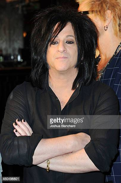 Musician Steve Stevens arrives at the Avalon for Kings of Chaos Tokyo Celebrates The Dolphin Benefit Concert on November 18 2013 in Hollywood...