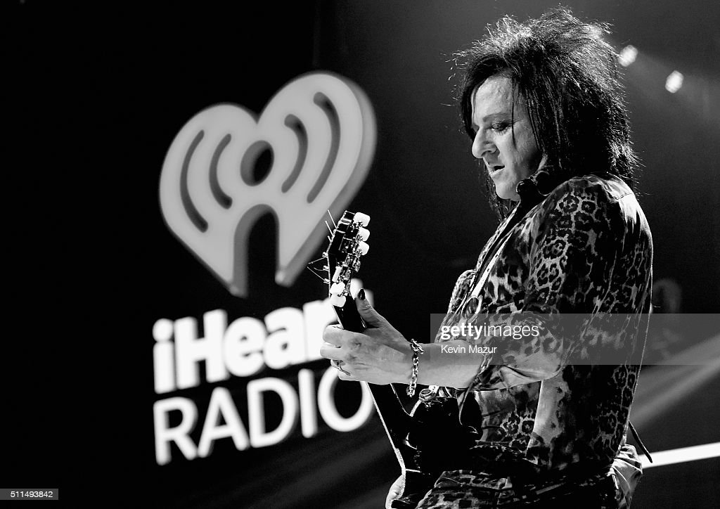 Musician <a gi-track='captionPersonalityLinkClicked' href=/galleries/search?phrase=Steve+Stevens&family=editorial&specificpeople=225031 ng-click='$event.stopPropagation()'>Steve Stevens</a> performs onstage during the first ever iHeart80s Party at The Forum on February 20, 2016 in Inglewood, California.