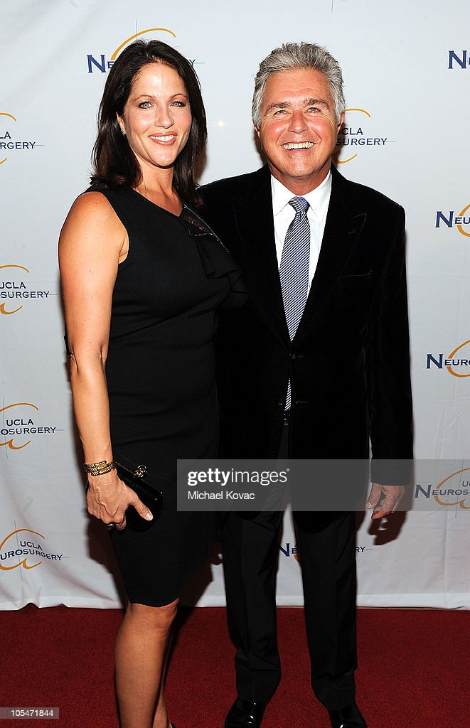 Musician <a gi-track='captionPersonalityLinkClicked' href=/galleries/search?phrase=Steve+Tyrell&family=editorial&specificpeople=807274 ng-click='$event.stopPropagation()'>Steve Tyrell</a> (R) accompanied by his fiancee Karen Pulaski attends UCLA Department of Neurosurgery's 2010 Visionary Ball at The Beverly Hilton Hotel on October 14, 2010 in Beverly Hills, California.