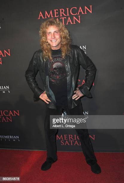 Musician Steven Adler arrives for the Premiere Of Miramax's 'American Satan' held at AMC Universal City Walk on October 12 2017 in Universal City...