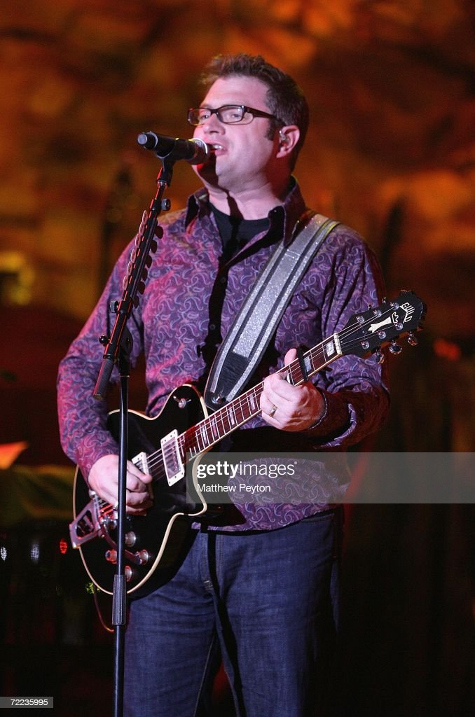 Musician Steven Page of Barenaked Ladies performs a concert during the Mohegan Sun 10th Anniversary celebration in the Wolf Den at Mohegan Sun...