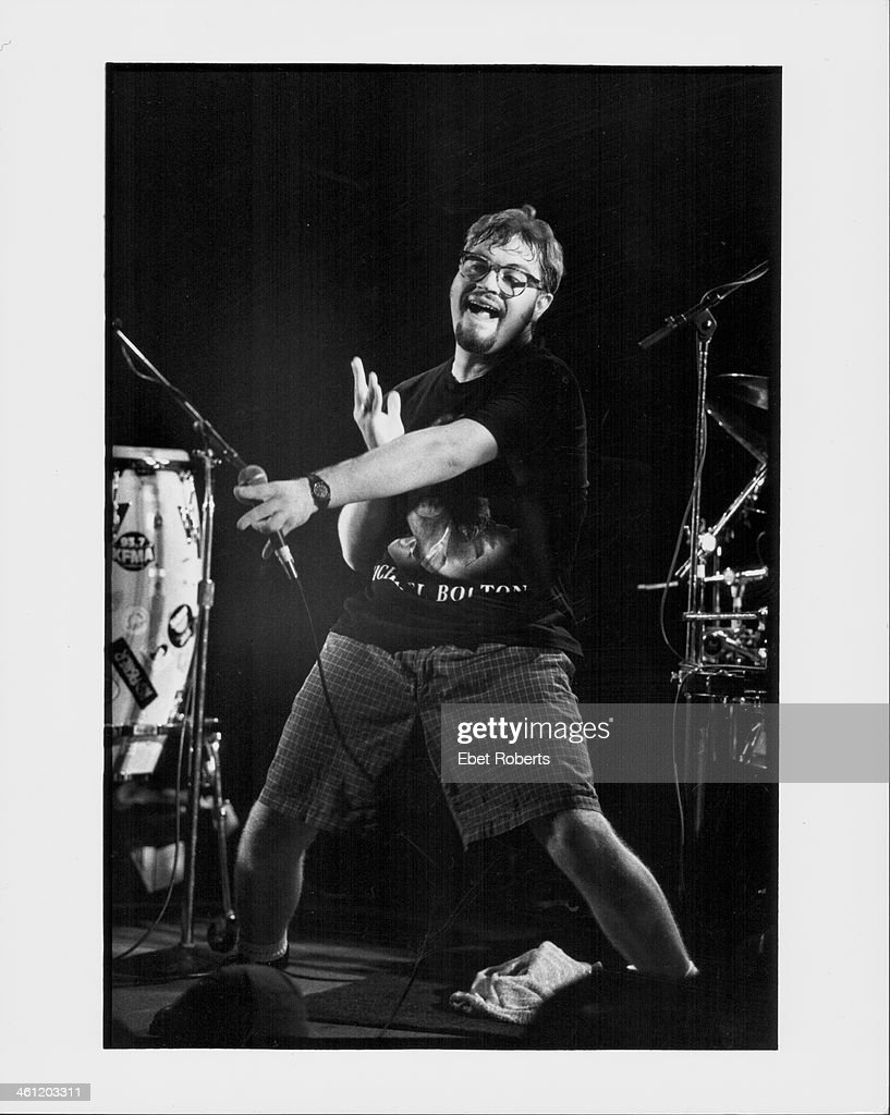 Musician Steven Page of the Barenaked Ladies on stage 1993