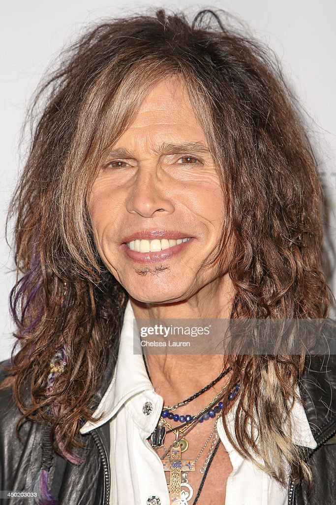 Musician Steven Tyler arrives at the Sunset Marquis Hotel 50th anniversary birthday bash at Sunset Marquis Hotel & Villas on November 16, 2013 in West Hollywood, California.