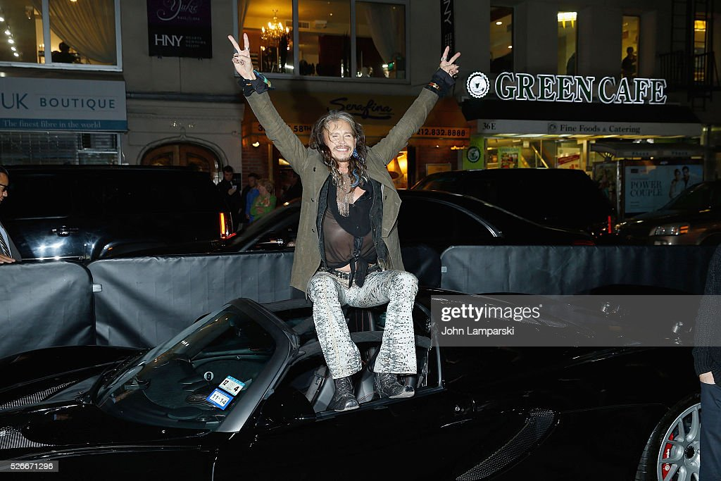 Musician Steven Tyler attends 'Steven Tyler...Out On A Limb' kick off celebration at Lavo on April 30, 2016 in New York City.