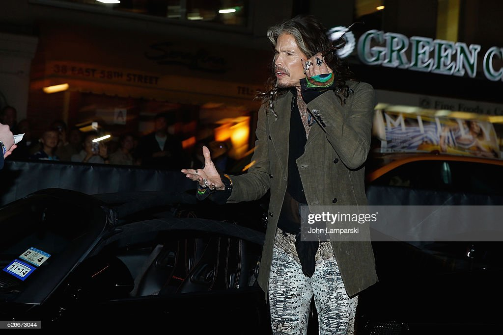 Musician <a gi-track='captionPersonalityLinkClicked' href=/galleries/search?phrase=Steven+Tyler+-+Musician&family=editorial&specificpeople=202080 ng-click='$event.stopPropagation()'>Steven Tyler</a> attends '<a gi-track='captionPersonalityLinkClicked' href=/galleries/search?phrase=Steven+Tyler+-+Musician&family=editorial&specificpeople=202080 ng-click='$event.stopPropagation()'>Steven Tyler</a>...Out On A Limb' kick off celebration at Lavo on April 30, 2016 in New York City.