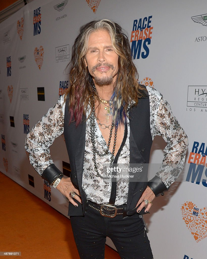 Musician <a gi-track='captionPersonalityLinkClicked' href=/galleries/search?phrase=Steven+Tyler+-+Musician&family=editorial&specificpeople=202080 ng-click='$event.stopPropagation()'>Steven Tyler</a> attends the 21st annual Race to Erase MS at the Hyatt Regency Century Plaza on May 2, 2014 in Century City, California.