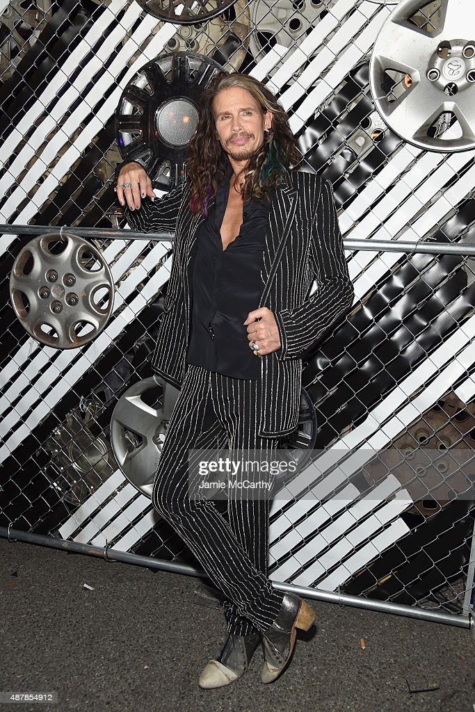Musician <a gi-track='captionPersonalityLinkClicked' href=/galleries/search?phrase=Steven+Tyler+-+Musician&family=editorial&specificpeople=202080 ng-click='$event.stopPropagation()'>Steven Tyler</a> attends the Givenchy SS16 after party on September 11, 2015 in New York City.