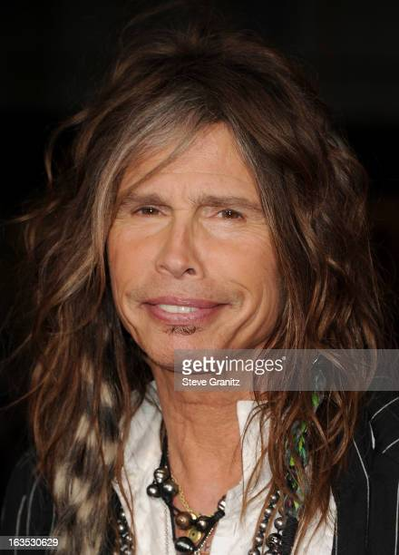 Musician Steven Tyler attends 'The Incredible Burt Wonderstone' Los Angeles Premiere at TCL Chinese Theatre on March 11 2013 in Hollywood California