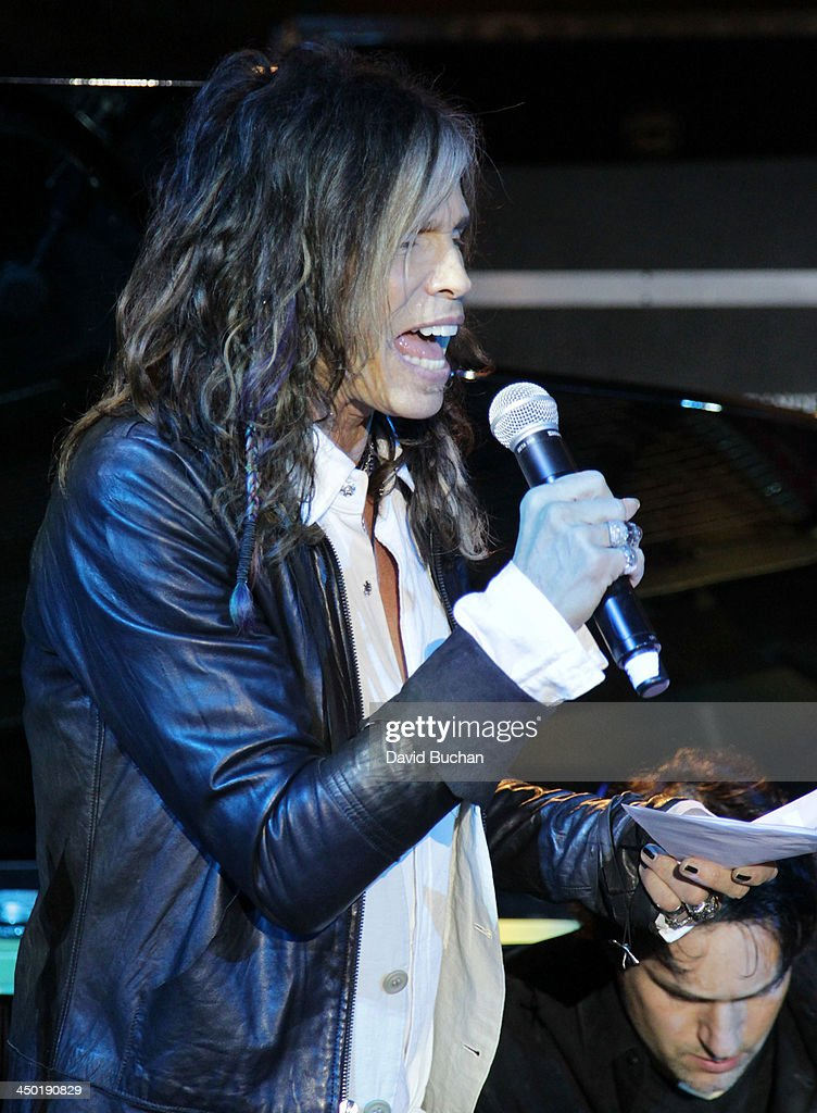 Musician <a gi-track='captionPersonalityLinkClicked' href=/galleries/search?phrase=Steven+Tyler+-+Musician&family=editorial&specificpeople=202080 ng-click='$event.stopPropagation()'>Steven Tyler</a> attends the Sunset Marquis Hotel 50th Anniversary Birthday Bash at Sunset Marquis Hotel & Villas on November 16, 2013 in West Hollywood, California.