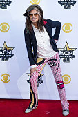 Musician Steven Tyler of Aerosmith attends the 50th Academy Of Country Music Awards at ATT Stadium on April 19 2015 in Arlington Texas