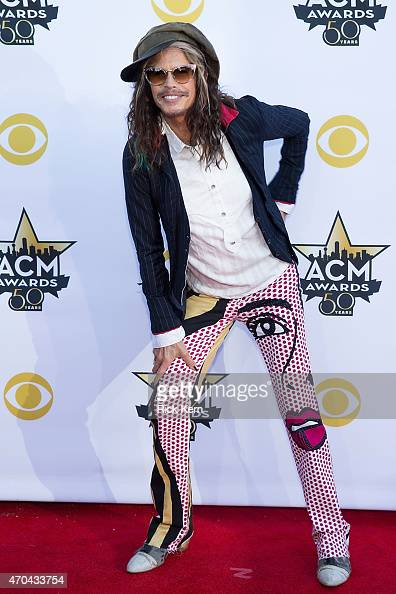 Musician Steven Tyler of Aerosmith attends the 50th Academy Of Country Music Awards at ATT Stadium on April 19 2015 in Arlington Texas