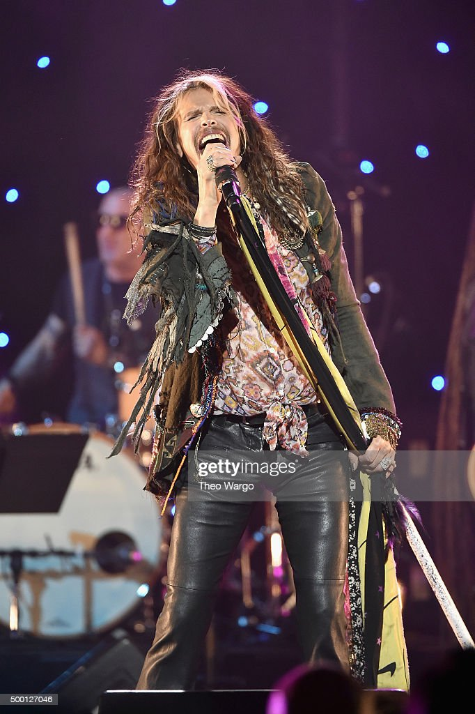 Musician Steven Tyler performs on stage during the Imagine: John Lennon 75th Birthday Concert at The Theater at Madison Square Garden on December 5, 2015 in New York City.