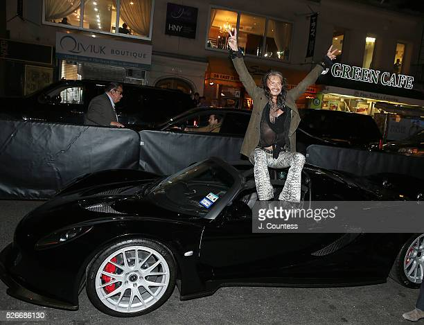 Musician Steven Tyler poses for a photo at the 'Steven TylerOut On A Limb' Kick Off Celebration at Lavo on April 30 2016 in New York City