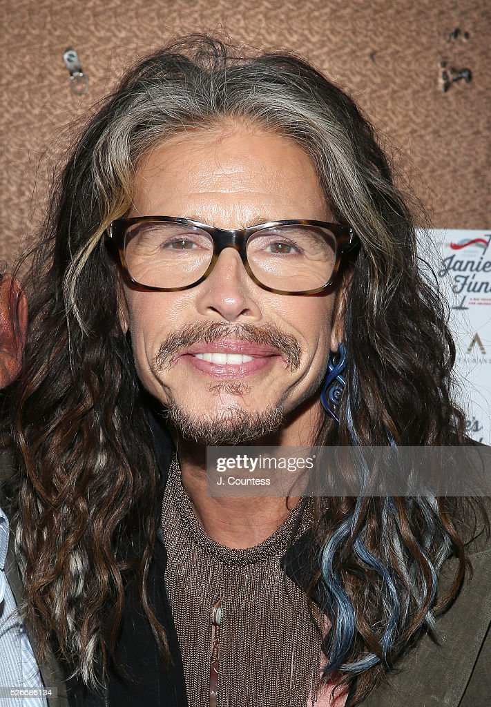 Musician <a gi-track='captionPersonalityLinkClicked' href=/galleries/search?phrase=Steven+Tyler&family=editorial&specificpeople=202080 ng-click='$event.stopPropagation()'>Steven Tyler</a> poses for a photo at the '<a gi-track='captionPersonalityLinkClicked' href=/galleries/search?phrase=Steven+Tyler&family=editorial&specificpeople=202080 ng-click='$event.stopPropagation()'>Steven Tyler</a>...Out On A Limb' Kick Off Celebration at Lavo on April 30, 2016 in New York City.