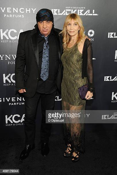 Musician Steven Van Zandt and Maureen Van Zandt attend the 9th annual Keep A Child Alive Black Ball at Hammerstein Ballroom on October 30 2014 in New...