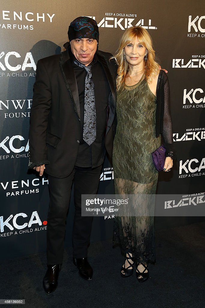 Musician Steven Van Zandt (L) and Maureen Van Zandt attends the 9th annual Keep A Child Alive Black Ball at Hammerstein Ballroom on October 30, 2014 in New York City.
