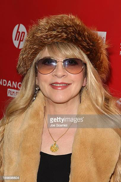 Musician Stevie Nicks arrives at the 'Sound City' Premiere at the 2013 Sundance Film Festival at The Marc Theatre on January 18 2013 in Park City Utah