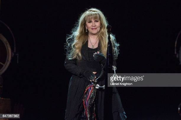 Musician Stevie Nicks performs on stage at Viejas Arena on March 2 2017 in San Diego California