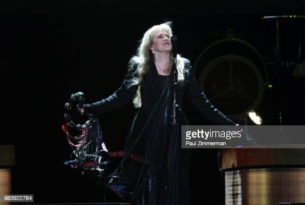 Musician Stevie Nicks performs onstage at the Prudential Center on April 2 2017 in Newark New Jersey