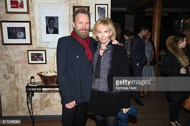 Musician Sting and actress Trudie Styler attend as Harvey Weinstein hosts a celebration for Forest Whitaker in Eugene O'Neill's 'Hughie' at Elyx...