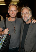 Musician Sting and president of the recording academy Neil Portnow backstage at The Thelonious Monk Institute of Jazz and The Recording Academy Los...