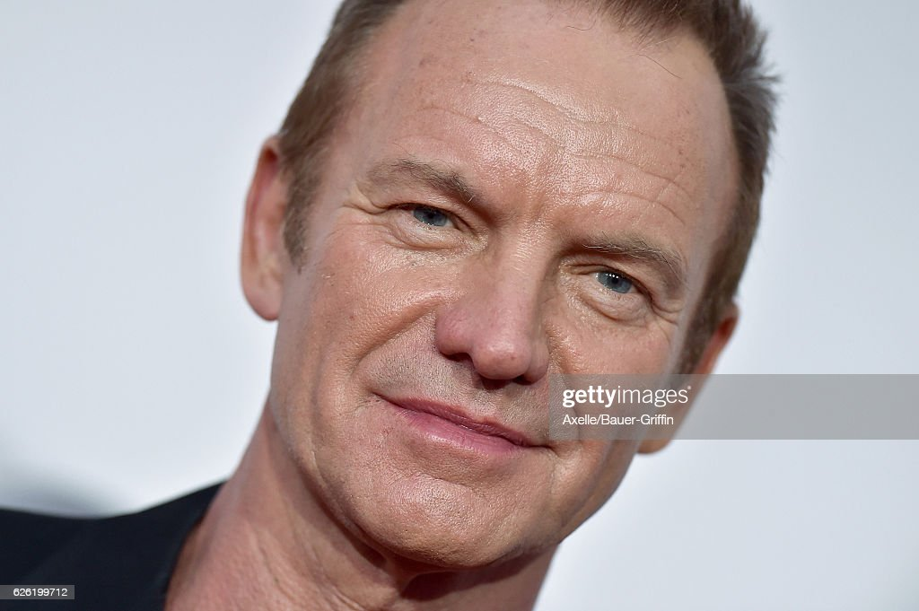 Musician Sting arrives at the 2016 American Music Awards at Microsoft Theater on November 20, 2016 in Los Angeles, California.