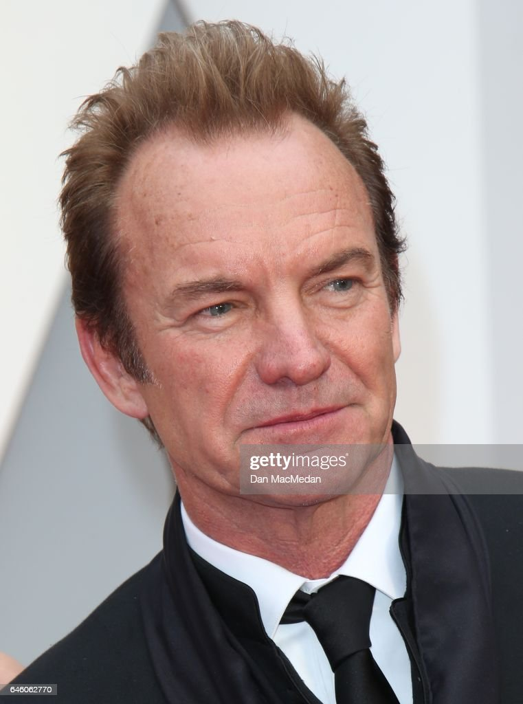 Musician Sting arrives at the 89th Annual Academy Awards at Hollywood & Highland Center on February 26, 2017 in Hollywood, California.