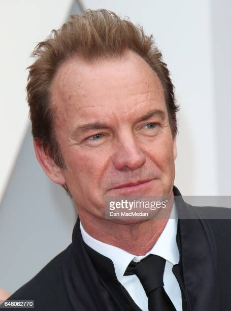 Musician Sting arrives at the 89th Annual Academy Awards at Hollywood Highland Center on February 26 2017 in Hollywood California