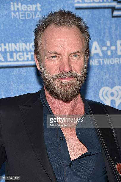 Musician Sting attends AE Networks 'Shining A Light' concert at The Shrine Auditorium on November 18 2015 in Los Angeles California