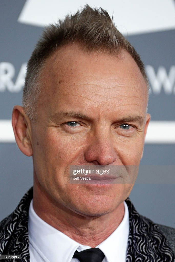 Musician Sting attends the 55th Annual GRAMMY Awards at STAPLES Center on February 10, 2013 in Los Angeles, California.