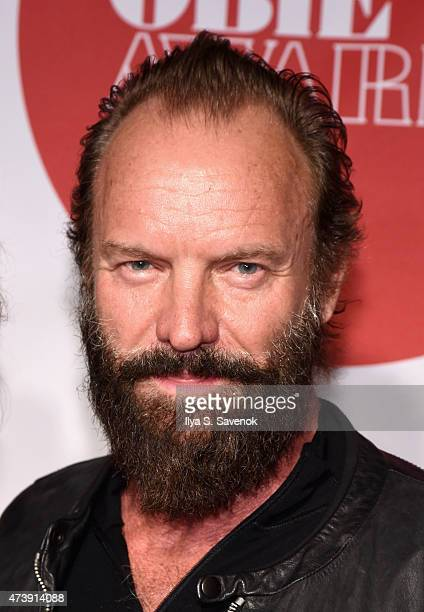 Musician Sting attends the 60th annual Obie awards on May 18 2015 in New York City