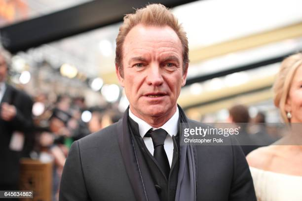 Musician Sting attends the 89th Annual Academy Awards at Hollywood Highland Center on February 26 2017 in Hollywood California