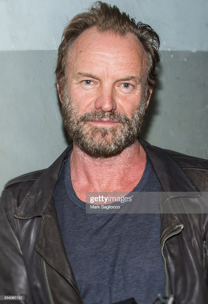 Musician Sting attends the Bill Jacklin Book Launch Party at Rizzoli Bookstore on May 24, 2016 in New York City.