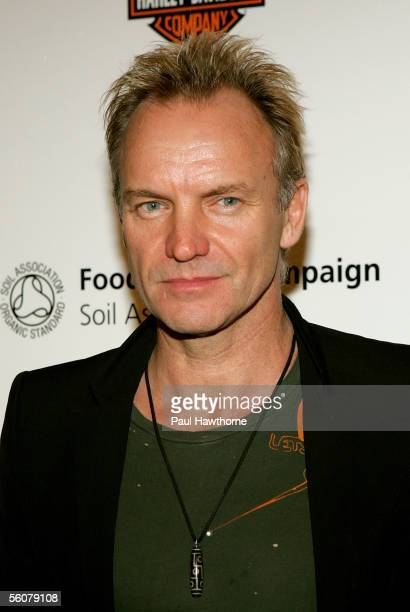 Musician Sting attends the first ever 'La Dolce Vita' New York Fundraiser which they are hosting to benefit Food for Life at The Metropolitan...