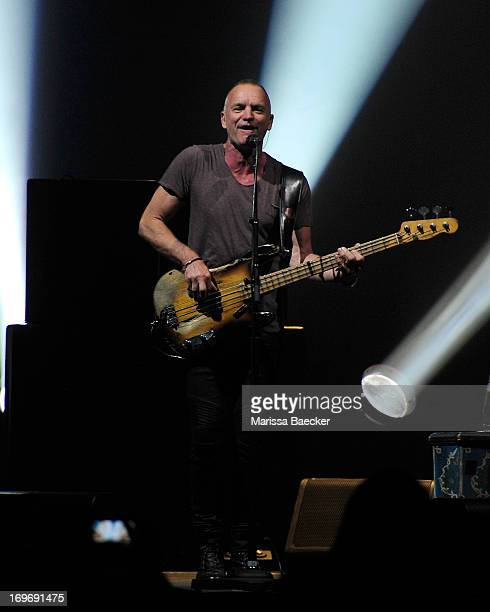 Musician Sting performs at the opening show of the Back to Bass Summer 2013 tour on May 30 3013 at Prospera Place in Kelowna British Columbia Canada