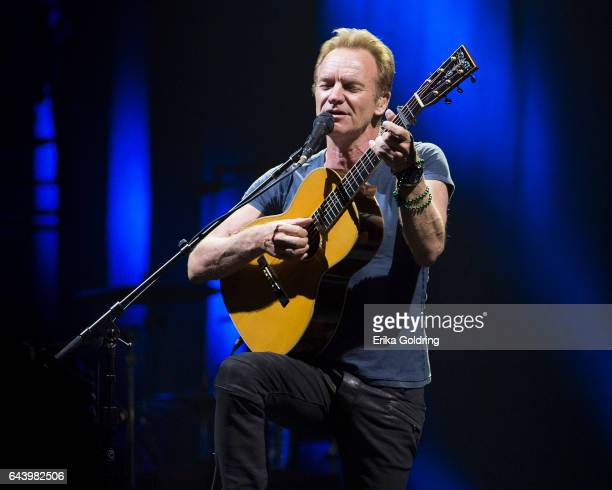 Musician Sting performs at UNO Lakefront Arena on February 22 2017 in New Orleans Louisiana