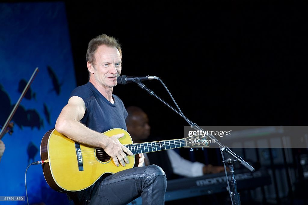 Musician Sting performs for Oceana Sting Under The Stars on July 19 2016 in Los Angeles California