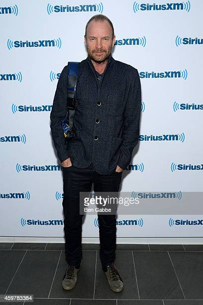Musician Sting visits at SiriusXM Studios on December 1 2014 in New York City
