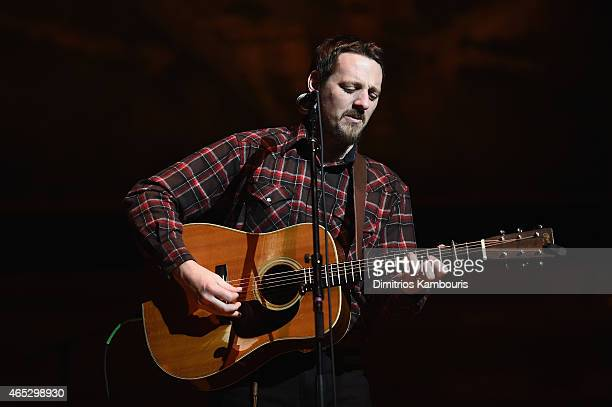 Musician Sturgill Simpson performs on stage during the Tibet House Benefit Concert 2015 at Carnegie Hall on March 5 2015 in New York City