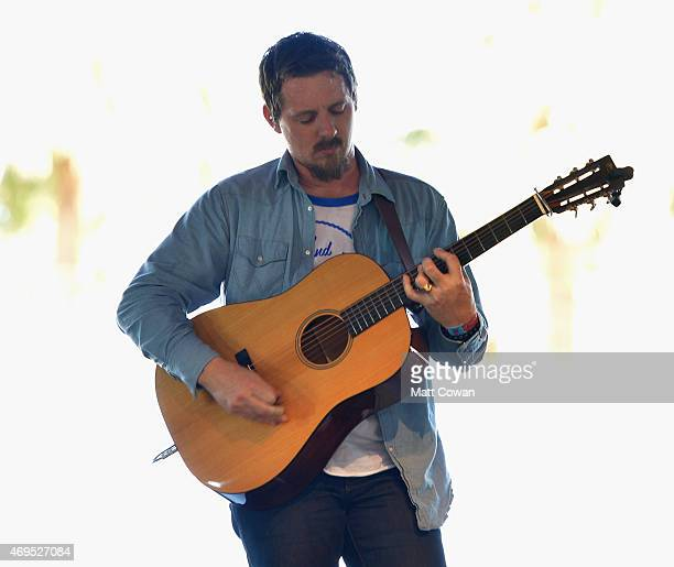Musician Sturgill Simpson performs onstage during day 3 of the 2015 Coachella Valley Music Arts Festival at the Empire Polo Club on April 12 2015 in...
