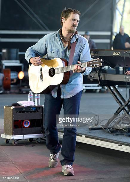 Musician Sturgill Simpson performs onstage during day one of 2015 Stagecoach California's Country Music Festival at The Empire Polo Club on April 24...