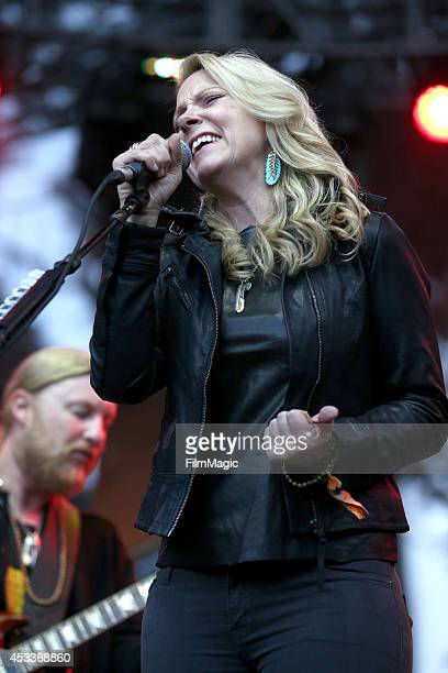 Musician Susan Tedeschi of Tedeschi Trucks Band performs at the Sutro Stage during day 1 of the 2014 Outside Lands Music and Arts Festival at Golden...