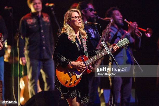 Musician Susan Tedeschi of Tedeschi Trucks Band performs on stage at San Diego Civic Theatre on November 9 2017 in San Diego California