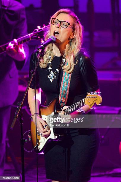 Musician Susan Tedeschi performs at the GRAMMY Foundation's 'Icon The Life And Legacy Of BB King at Wallis Annenberg Center for the Performing Arts...