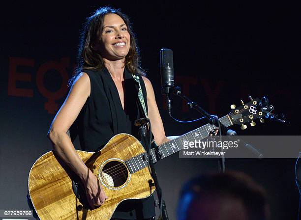 Musician Susanna Hoffs of The Bangles performs onstage during Equality Now's third annual 'Make Equality Reality' Gala on December 5 2016 in Beverly...