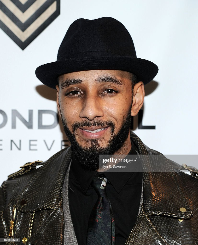 Musician <a gi-track='captionPersonalityLinkClicked' href=/galleries/search?phrase=Swizz+Beatz&family=editorial&specificpeople=567154 ng-click='$event.stopPropagation()'>Swizz Beatz</a> attends The VH1 Save The Music Foundation's 'Songwriter Music Series' With Swizz Beats at Hard Rock Cafe - Times Square on January 17, 2013 in New York City.